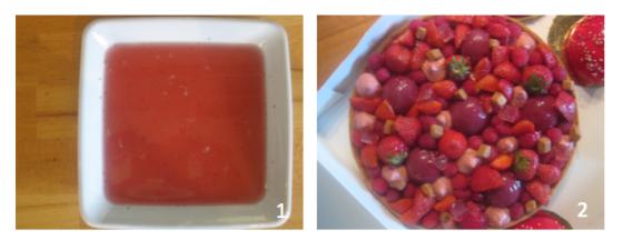 Recette tarte fraise framboise rhubarbe