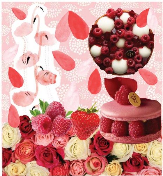 Recette Tarte framboises fraises et rhubarbe