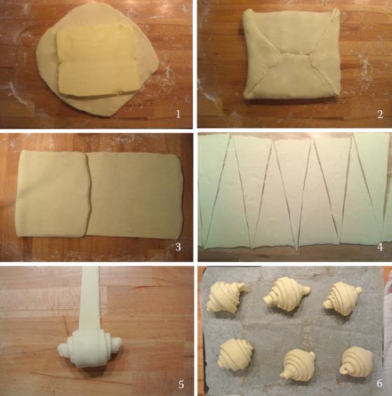 Étapes recette croissants